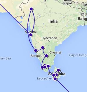 I slutet av Augusti ändrade vi riktning på vår resa och hamnade i Sri Lanka där vi kunde fixa visum till Indien! In late August, we changed the direction of our journey and we ended up in Sri Lanka where we could fix a visa to India!