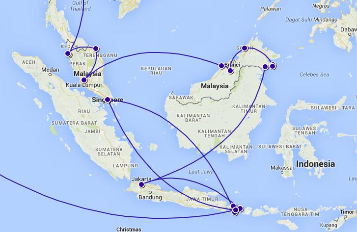 I maj korsade vi gränsen till Malaysia och mötte upp Ulrikas syster i Indonesien i slutet av juni! In May, we crossed the border to Malaysia and met Ulrika's sister in Indonesia at the end of June!