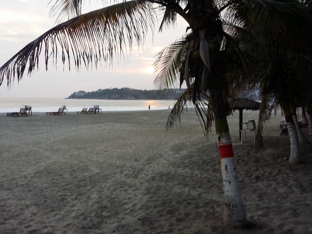 Solnedgång vid Zicatelastranden, där vi stannade i tio dagar i januari i år. Sunset at Zicatela beach, where we stayed for ten days in January this year.