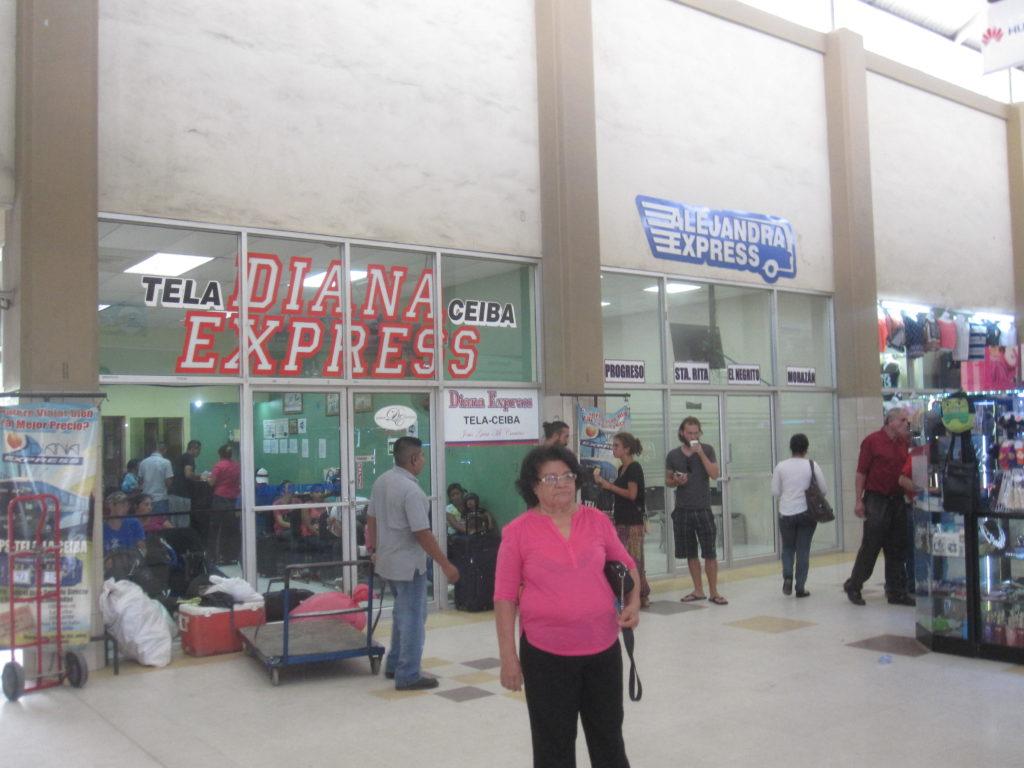 Diana Express väntsal i San Pedro Sula. The Diana Express waiting room in San Pedro Sula.